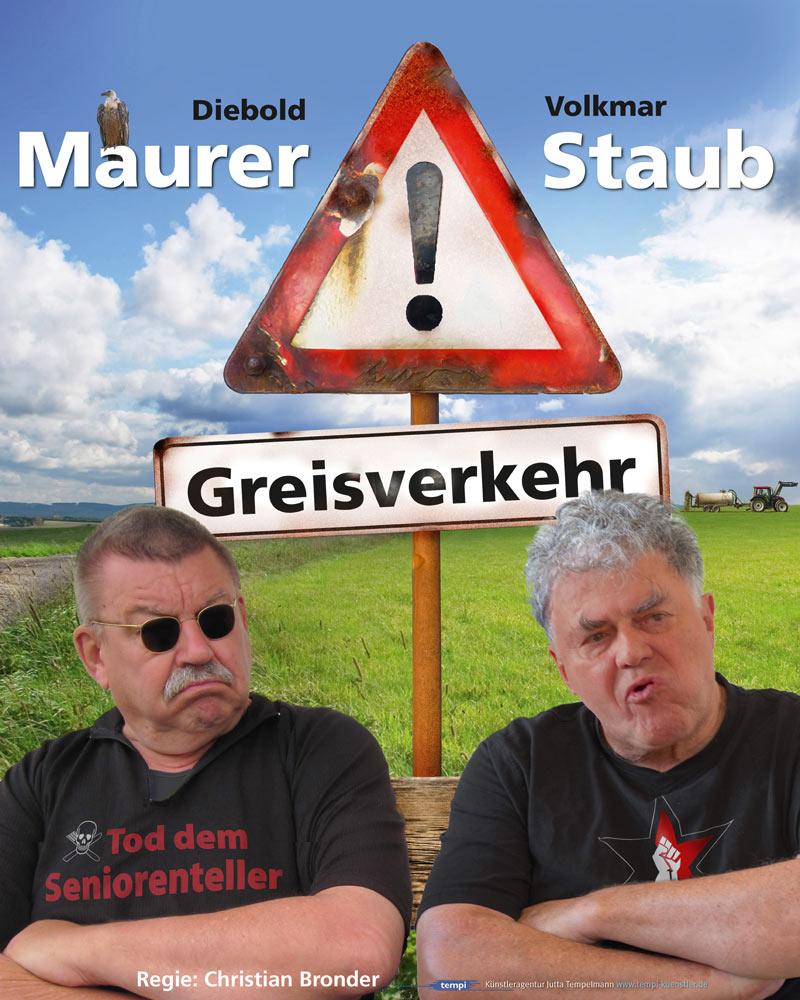 Plakat Achtung Greisverkehr